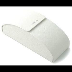 Prada Authentic Hard White Sunglasses Case